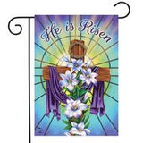 Easter Cross Religious - Garden Flag