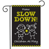 Please Slow Down - Garden Flag