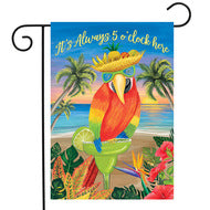 Always 5 O'Clock Parrot - Garden Flag