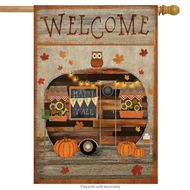 Fall Camper - House Flag