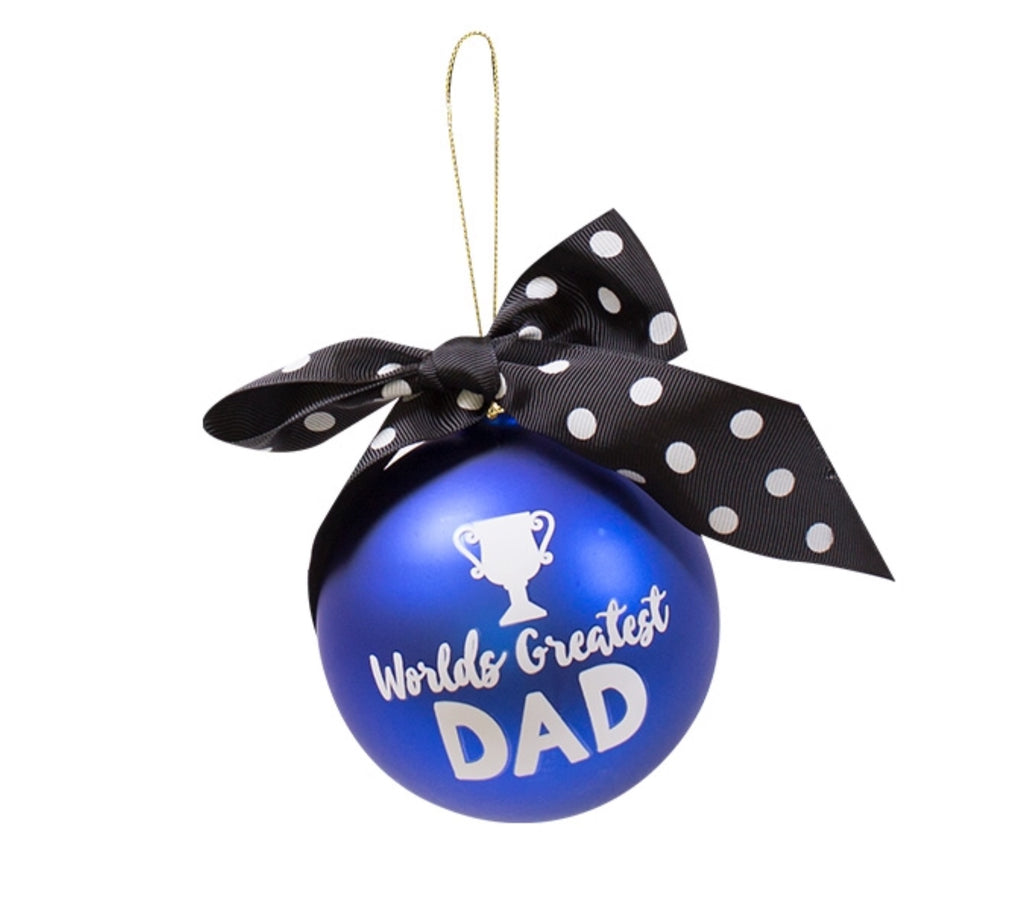 worlds greatest dad christmas ornament - Dad Christmas Ornament