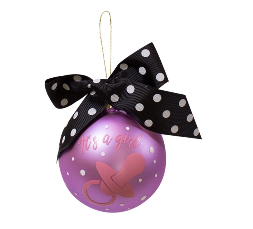 It's a Girl - Christmas Ornament