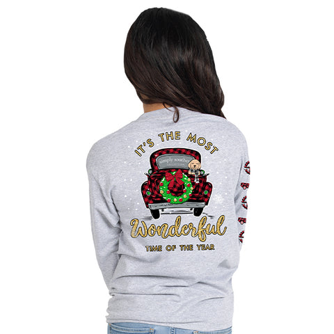It's the Most Wonderful Time of the Year - Vintage Truck - F19 - SS -YOUTH Long Sleeve