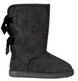 Black - Bow Suede Boots - F20 - Simply Southern