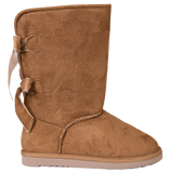 Tan - Bow Suede Boots - F20 - Simply Southern