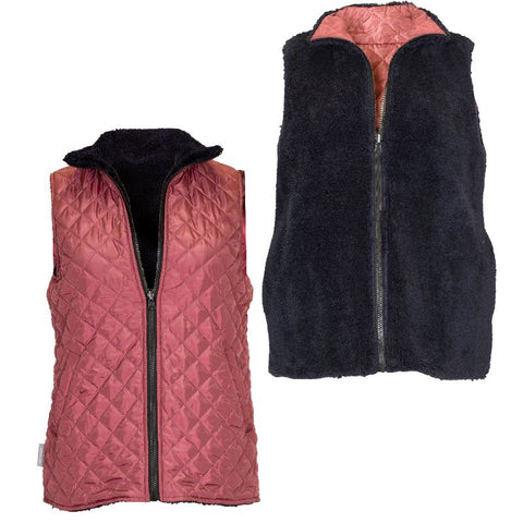 Reversible Sherpa Maroon - VEST - F20 - Simply Southern