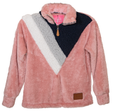 Sherpa - Color Block - Pink/White - F20 - YOUTH - Simply Southern
