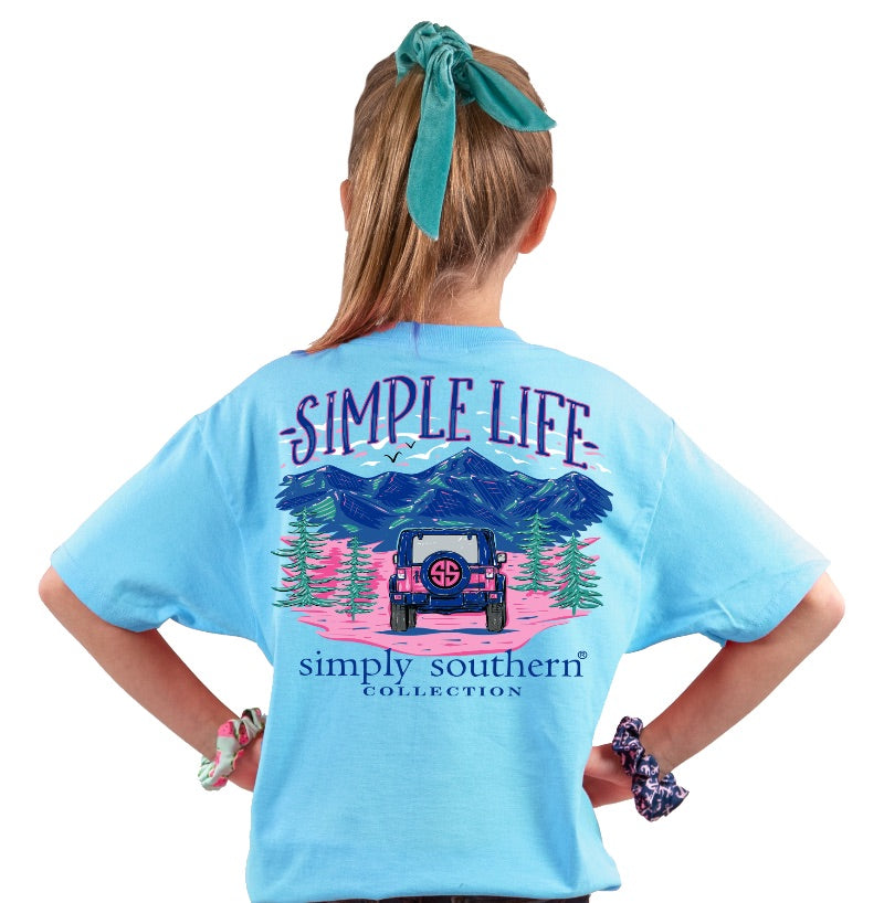 Simple Life - Jeep & Mountain - SS -  S20 - YOUTH T-Shirt