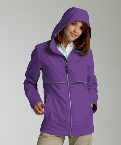 Charles River - New Englander Raincoat - Violet Purple