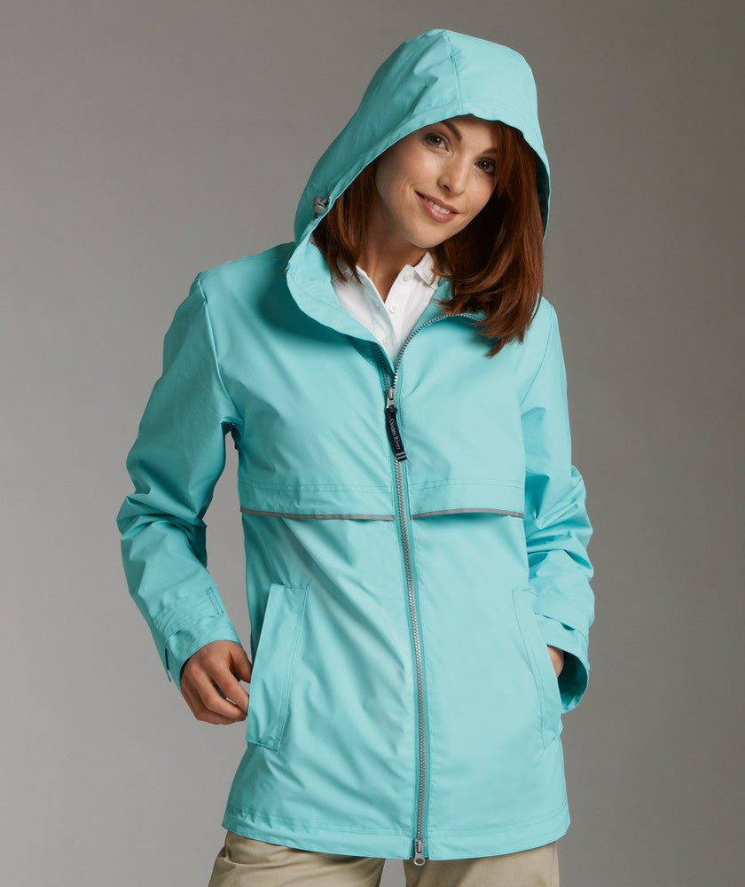 Charles River - New Englander Raincoat - Aqua