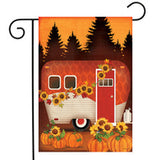 Autumn Night Camper - Garden Flag