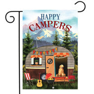 Great Outdoors Camper - Garden Flag