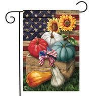 Patriotic Pumpkins - Garden Flag