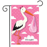 It's A Girl Stork - Garden Flag