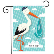 It's A Boy Stork - Garden Flag