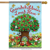 Grandchildren Love Here  - House Flag