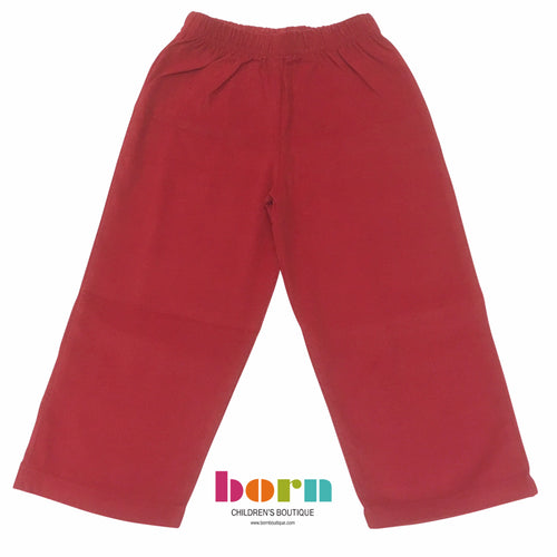 Jersey Pants Deep Red