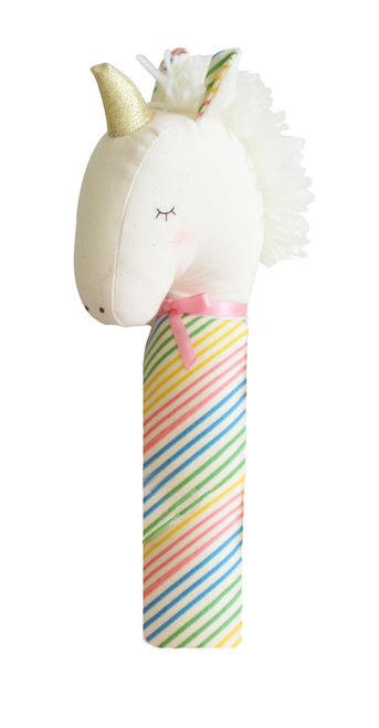 Yvette Unicorn Squeaker Rainbow - Born Childrens Boutique
