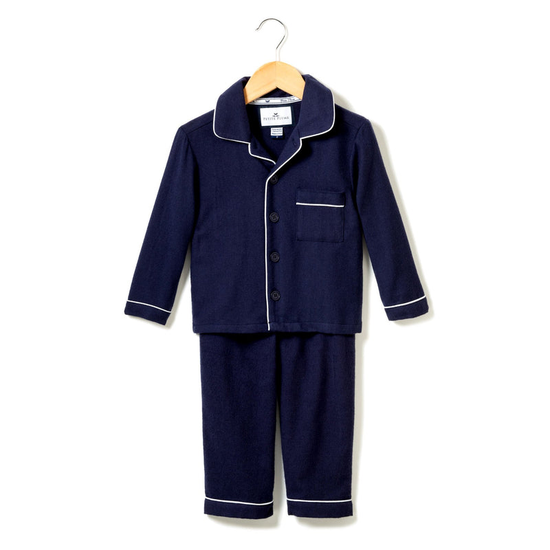 Classic Navy Flannel Pajamas
