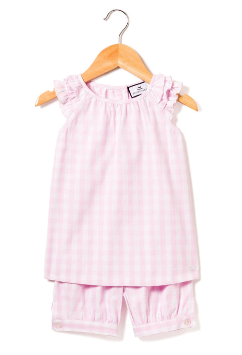 Margaux Pink Gingham Short Set