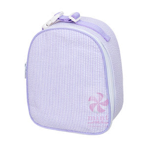 Oh Mint Lilac Seersucker Lunch Box