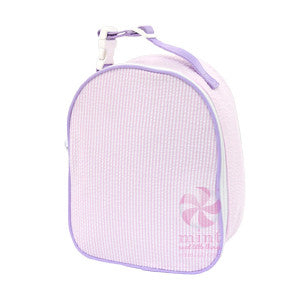Oh Mint Pink/Lilac Seersucker Lunch Box
