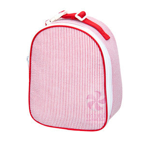 Oh Mint Red Seersucker Lunch Box - Born Childrens Boutique