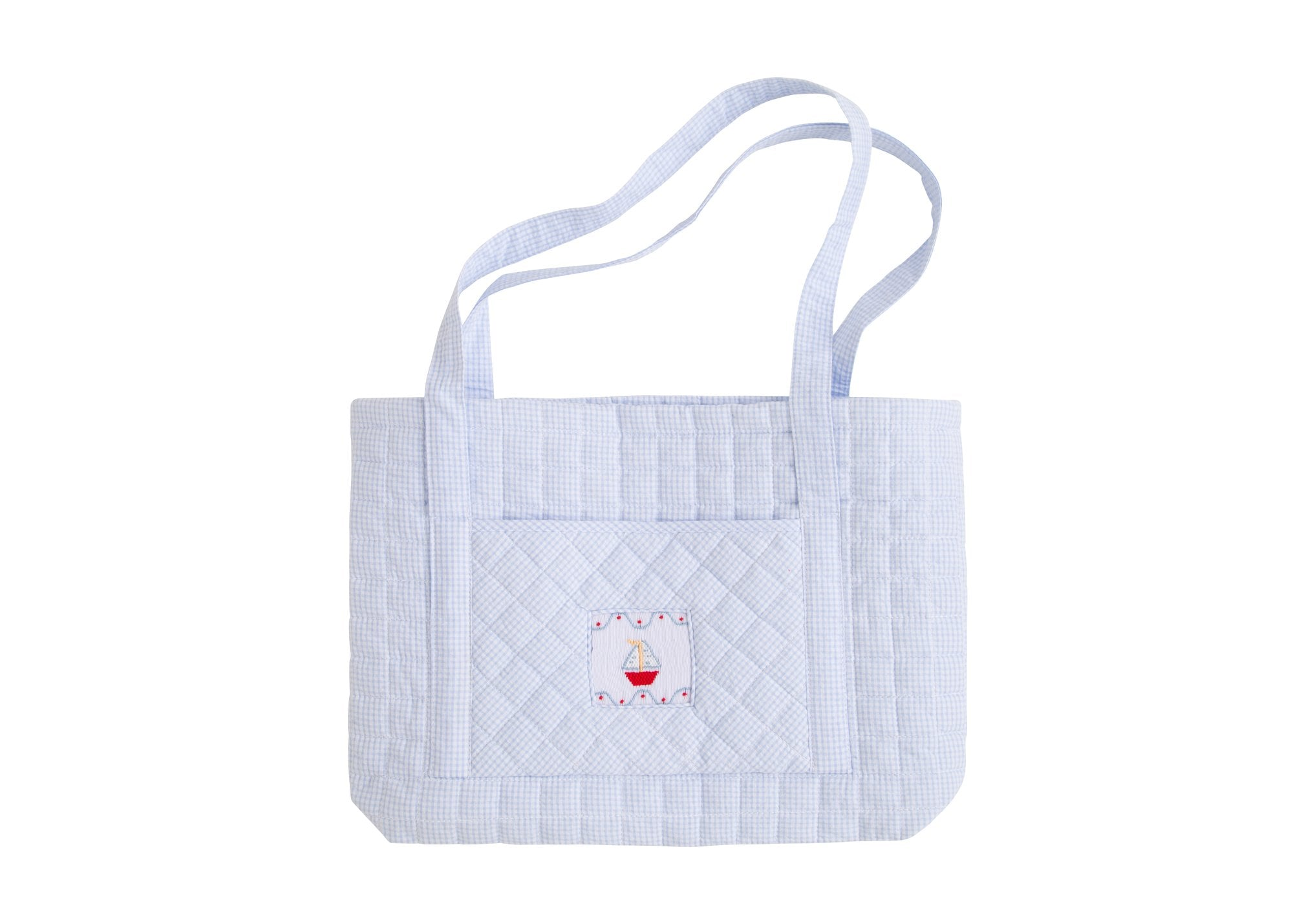 Quilted Sailboat Tote Bag