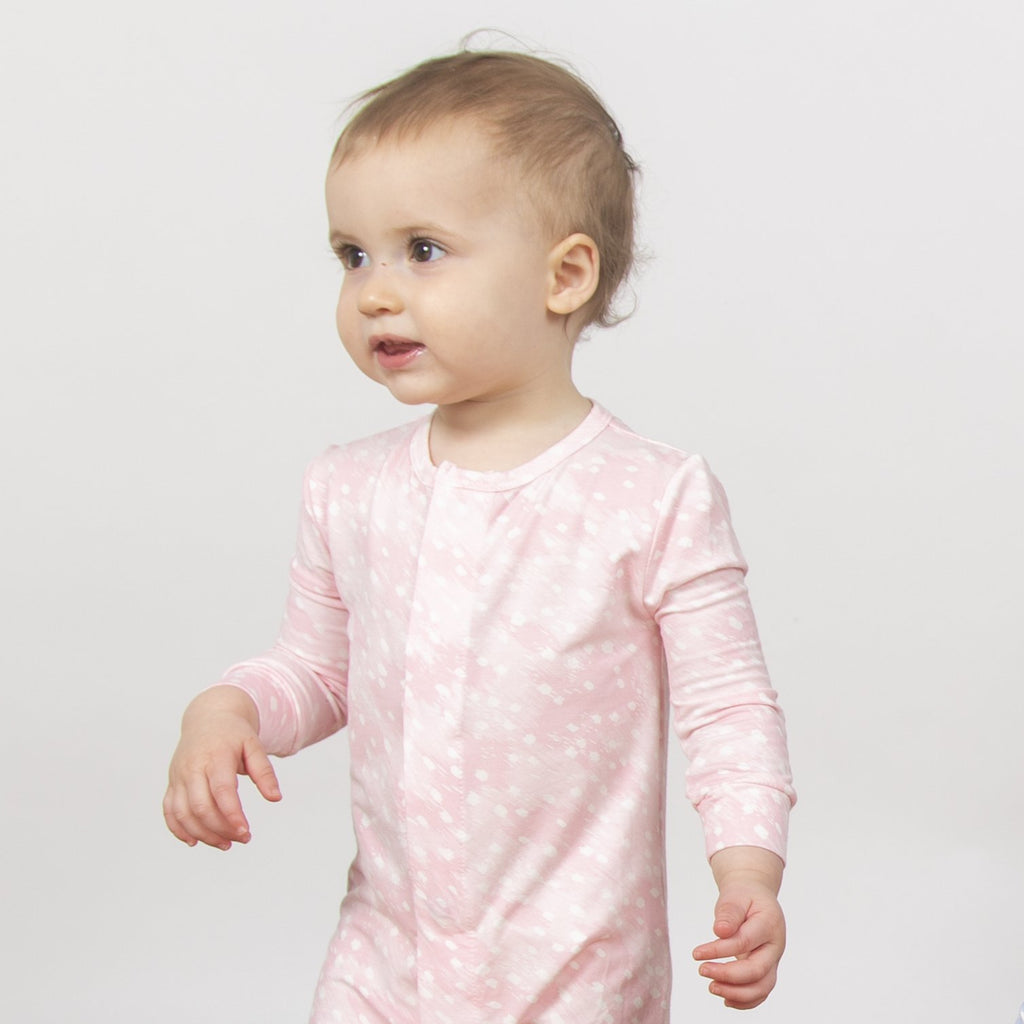Pink Doeskin Modal Magnetic Coverall - Girl Doeskin