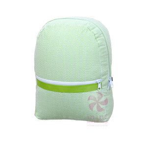 Oh Mint Lime Seersucker Backpack - Born Childrens Boutique