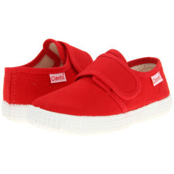 Cienta Kids Single Velcro Strap Red