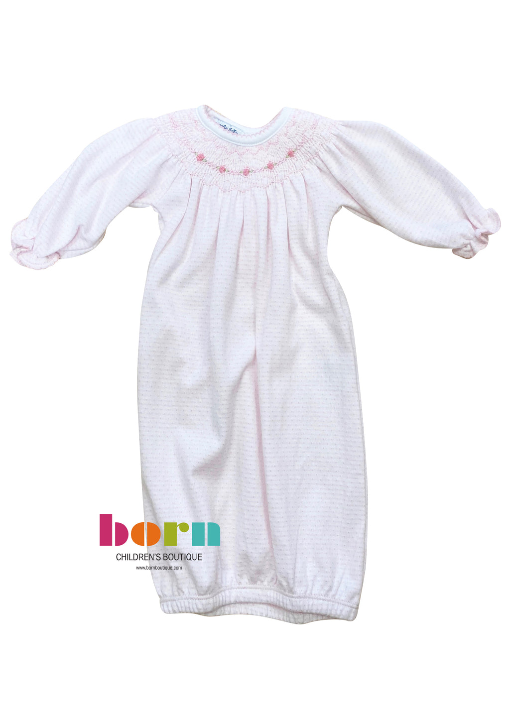 Maddy and Michael's Classics Bishop Gown Pink - Born Childrens Boutique