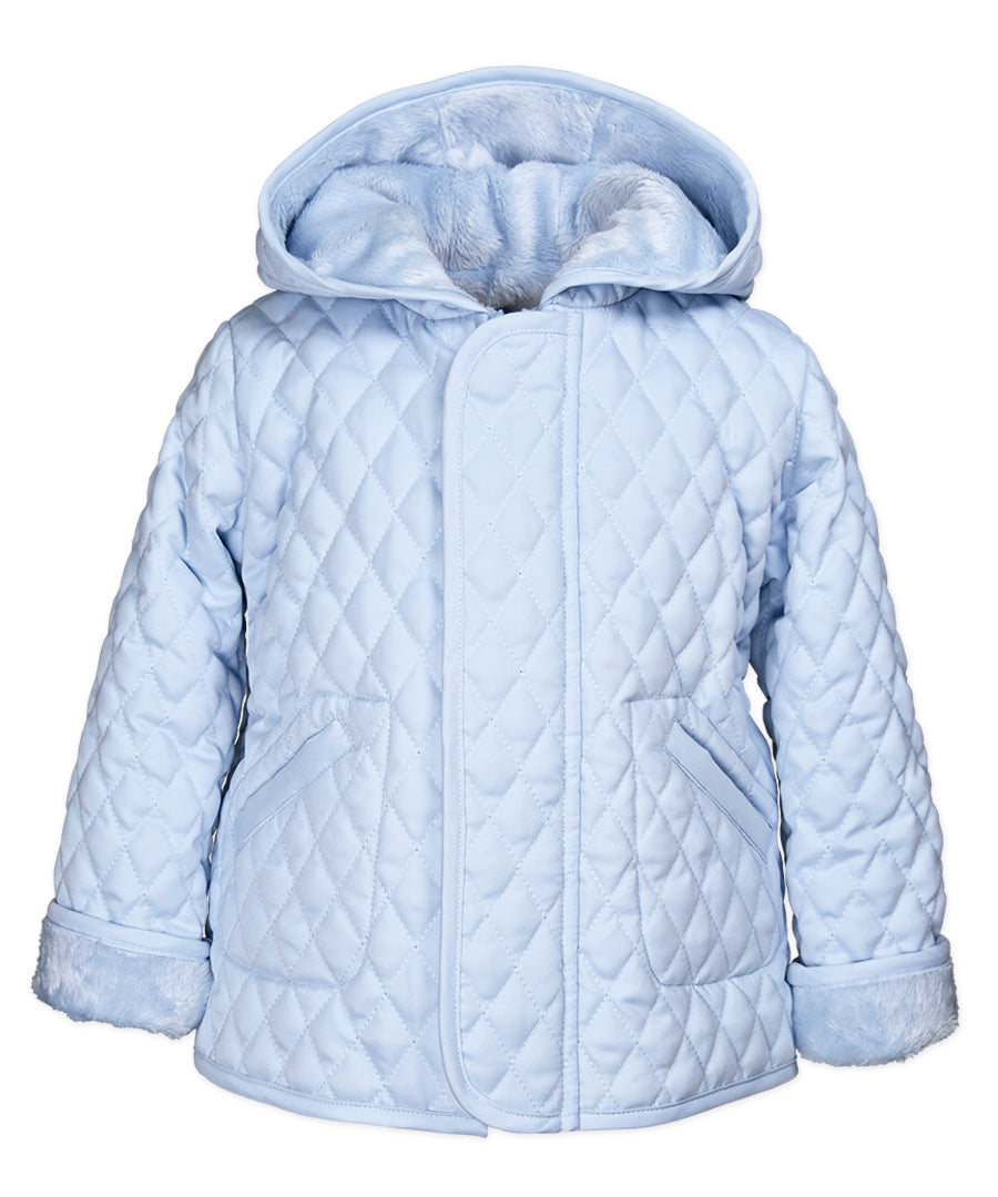 Widgeon Hooded Barn Jacket Light Blue - Born Childrens Boutique