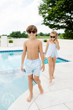 Tortola Swim Trunks - Sandyport Sailboats - Born Childrens Boutique