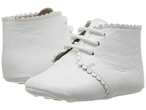 Elephantito Scalloped Bootie White