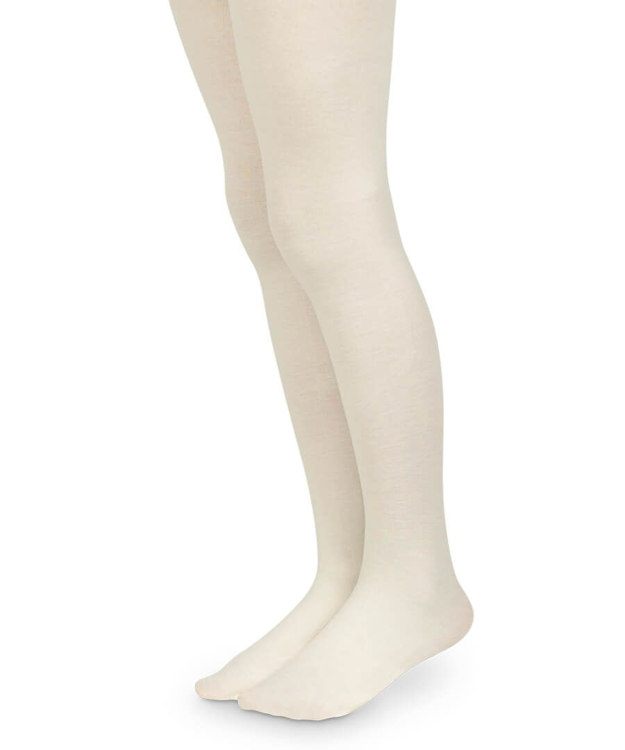 Jefferies Seamless Ivory Microfiber Tights - Born Childrens Boutique