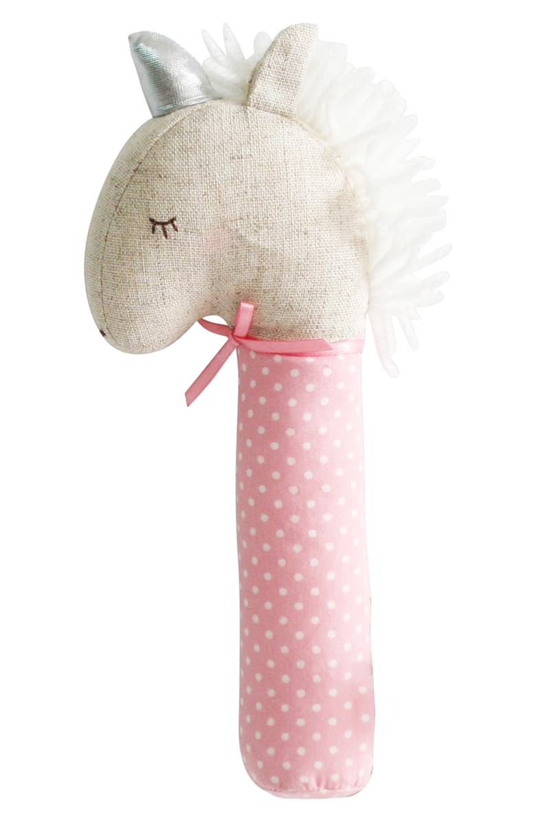 Yvette Unicorn Squeaker Pink & Silver - Born Childrens Boutique
