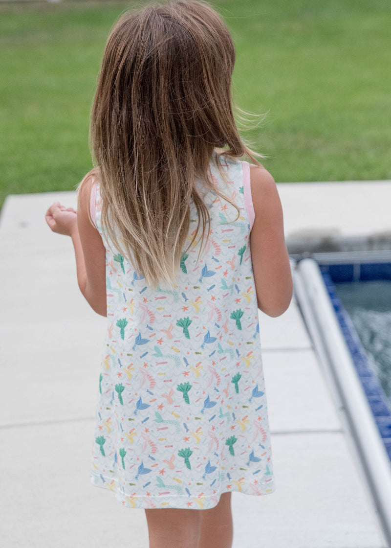 Madison Mermaid Dress - Sleeveless Knit - Born Childrens Boutique
