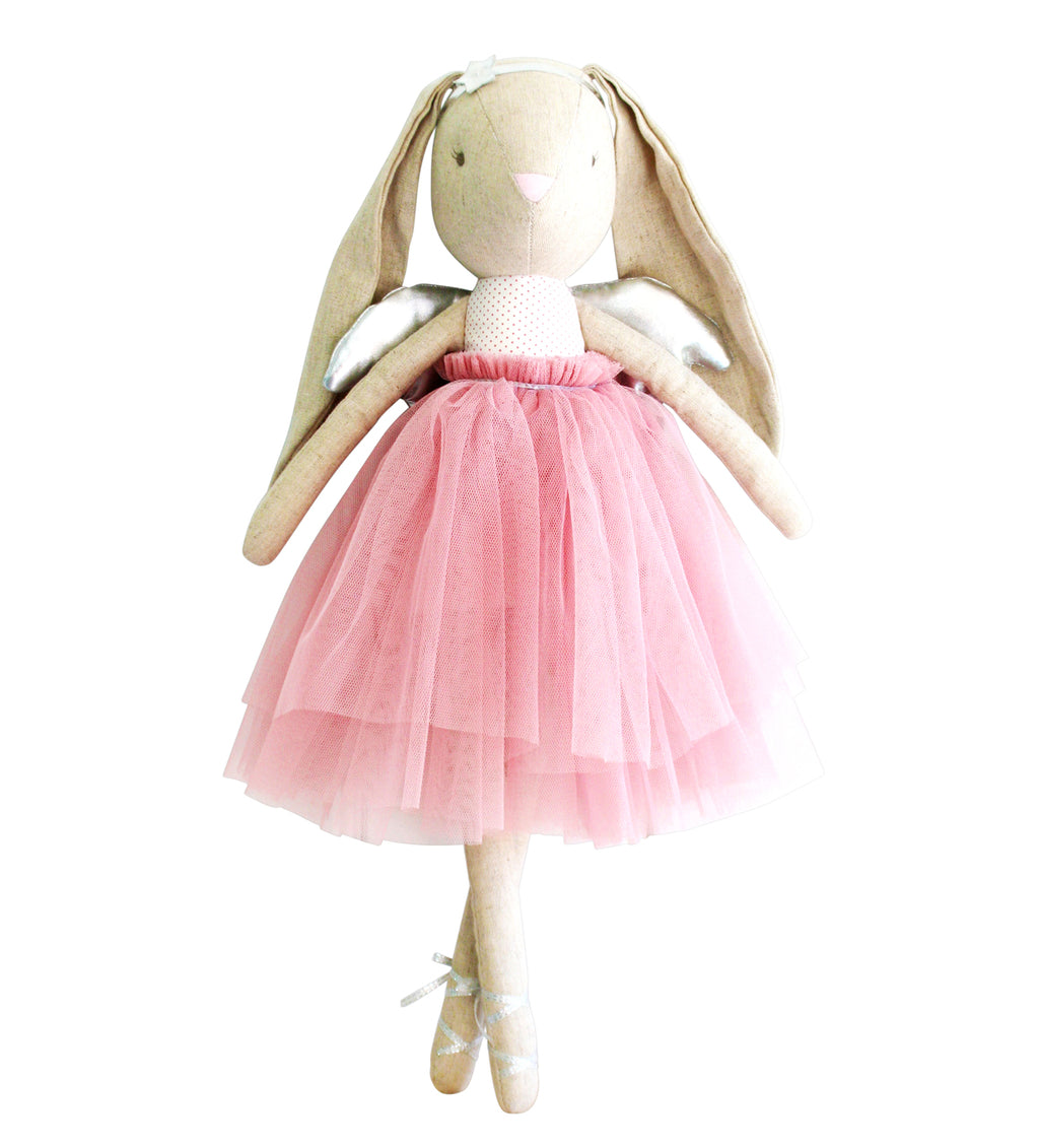 Linen Estelle Angel Bunny Blush - Born Childrens Boutique