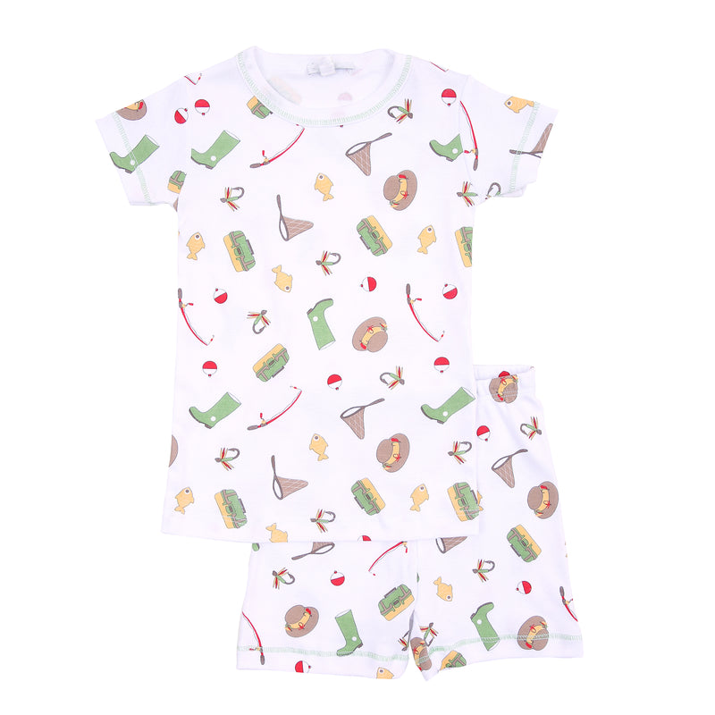 Gone Fishing Short Pajamas - Born Childrens Boutique