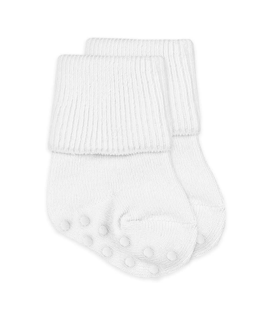 Jefferies Non-skid Smooth Toe Turn Cuff Socks (1 pair) - Born Childrens Boutique