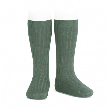 Ribbed Knee Socks (Mint Green) - Born Childrens Boutique