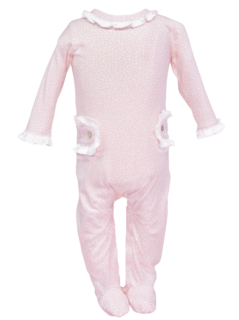 Lucy Footed Romper - Starlight Pink - Born Childrens Boutique
