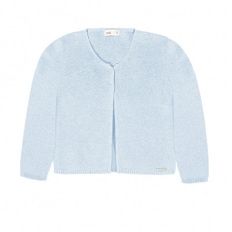 Garter Stitch Cardigan Light Blue - Born Childrens Boutique