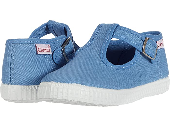 Cienta Kids T-Strap French Blue - Born Childrens Boutique