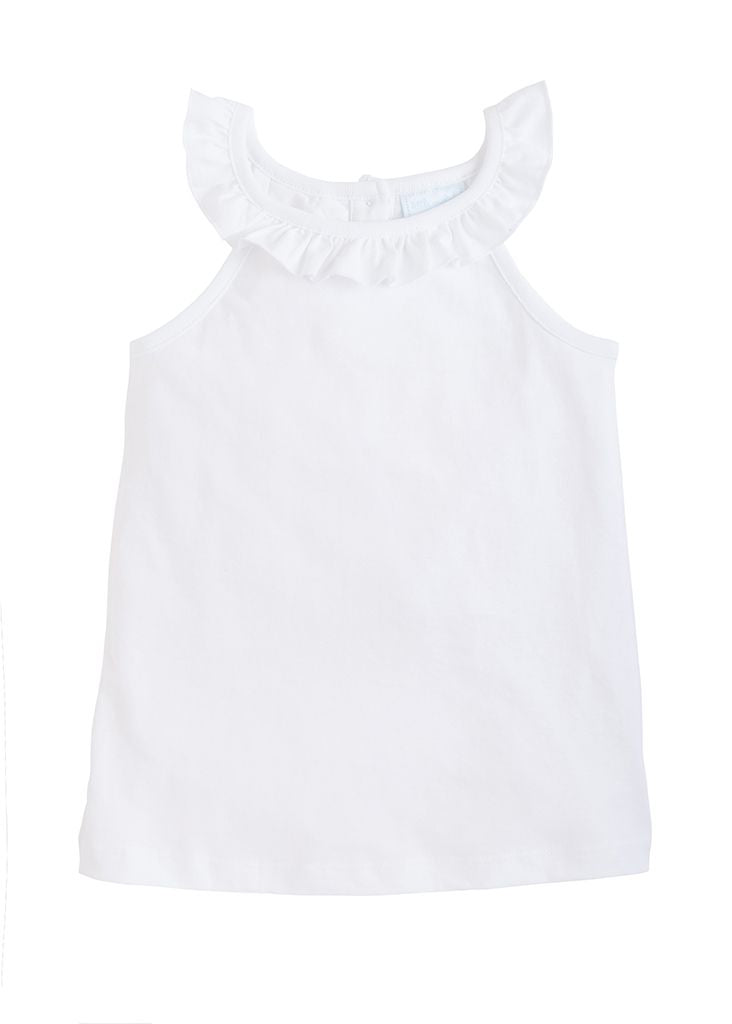 Ruffled Tank - White - Born Childrens Boutique