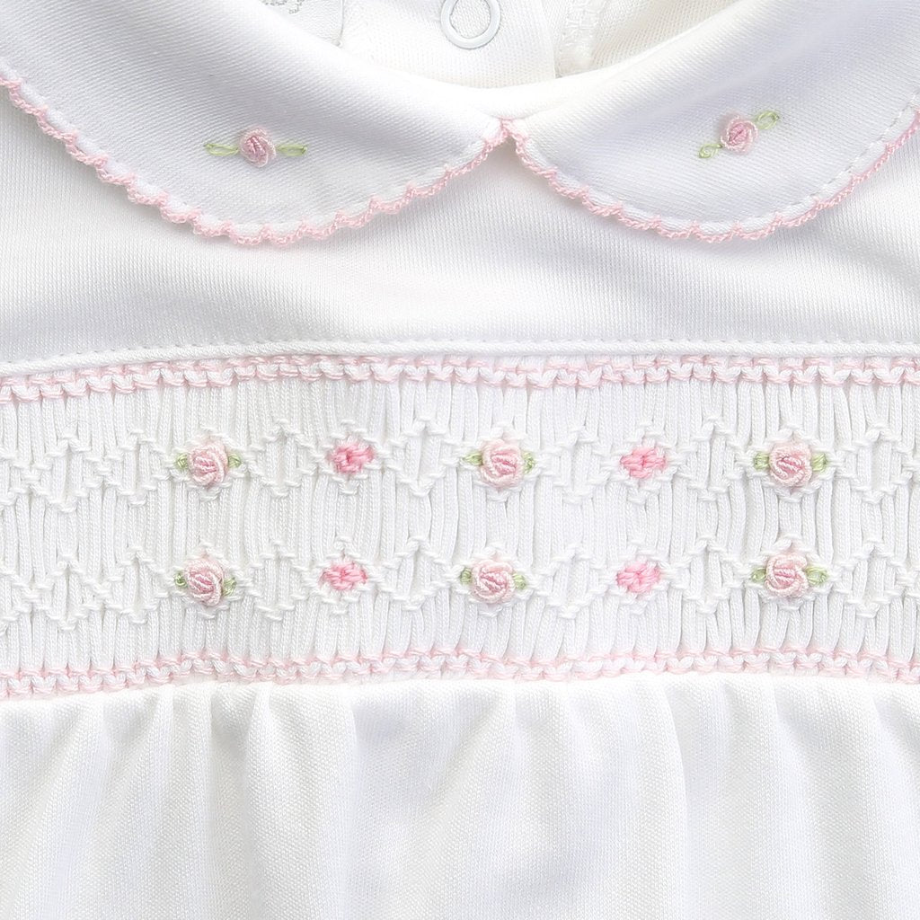 Nora and Nolan's Classics Smocked Collared Girl Bubble - Born Childrens Boutique