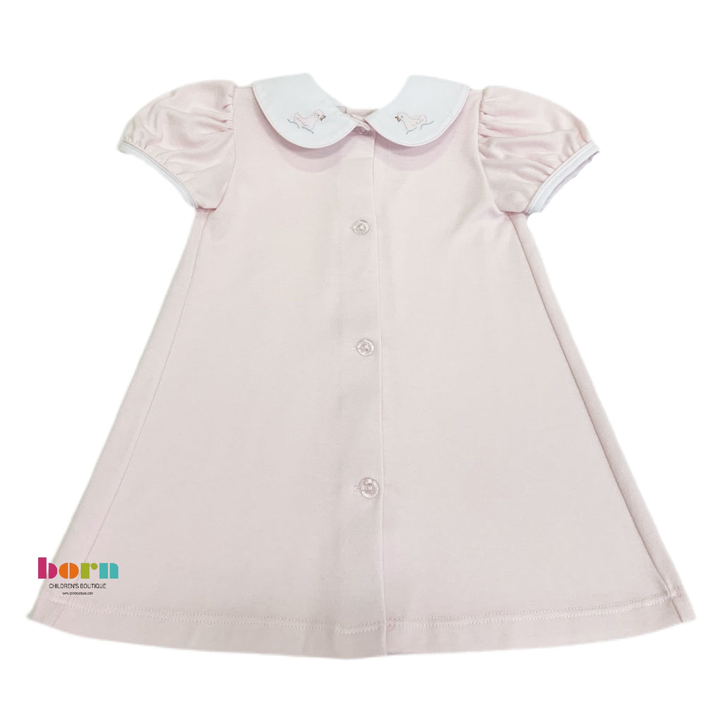 Knit Daygown, Pink Duck - Born Childrens Boutique