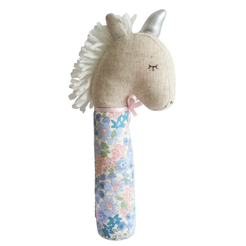 Yvette Unicorn Squeaker Liberty Blue - Born Childrens Boutique