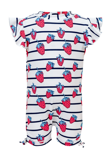 Strawberry Flutter Short Sleeve Sunsuit